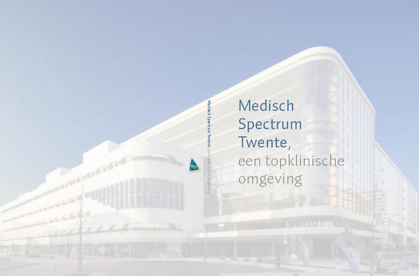 Voorkant brochure MST, een topklinische omgeving