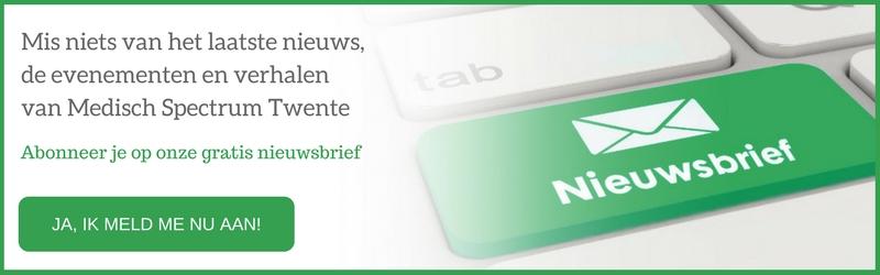 Nieuwsbrief aanmelden van Medisch Spectrum Twente