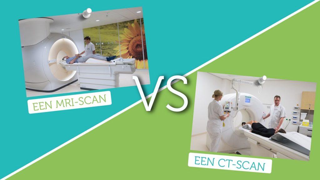 Het verschil tussen een MRI-scan en een CT-scan