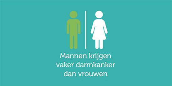 Feit 'Mannen krijgen vaker darmkanker dan vrouwen'