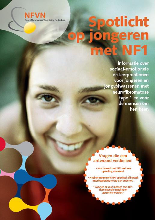 Voorkant brochure NF1 Spotlicht op jongeren