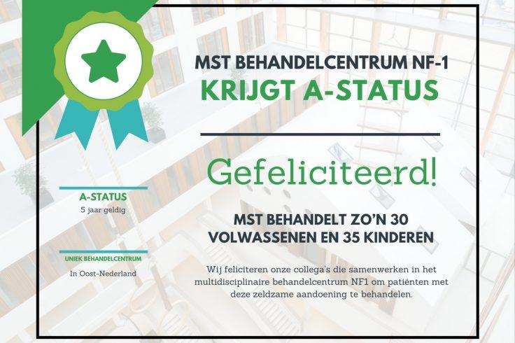 Certificaat Behandelcentrum NF1 A-status