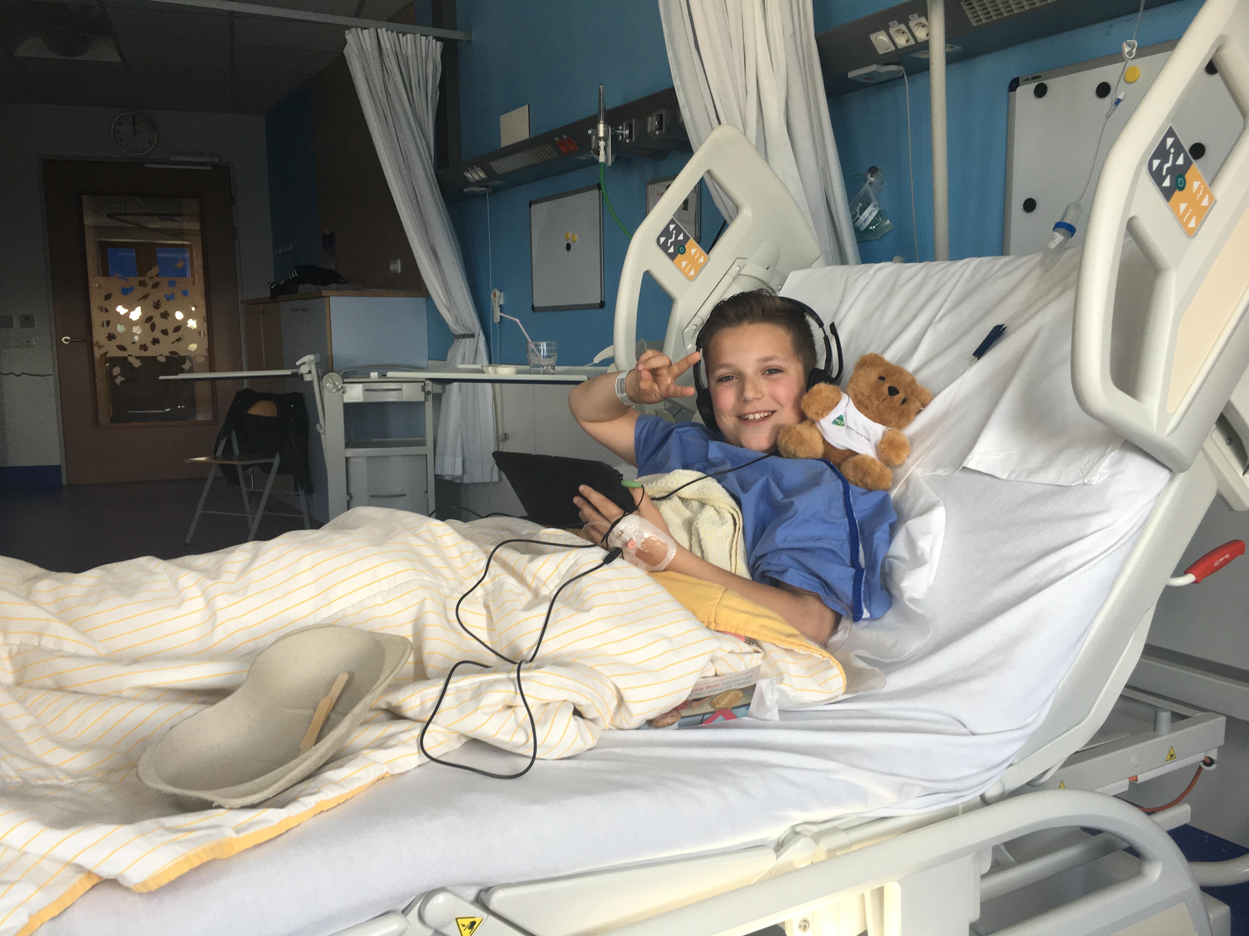 Bart in het ziekenhuis