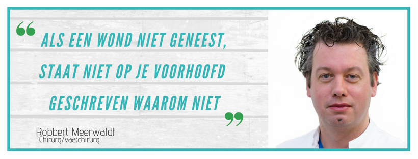 Quote en foto Robbert Meerwaldt: 'Als een wond niet geneest, staat niet op je voorhoofd geschreven waarom niet'