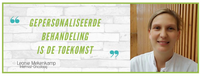 Quote Leonie Mekenkamp: 'Gepersonaliseerde behandeling is de toekomst'