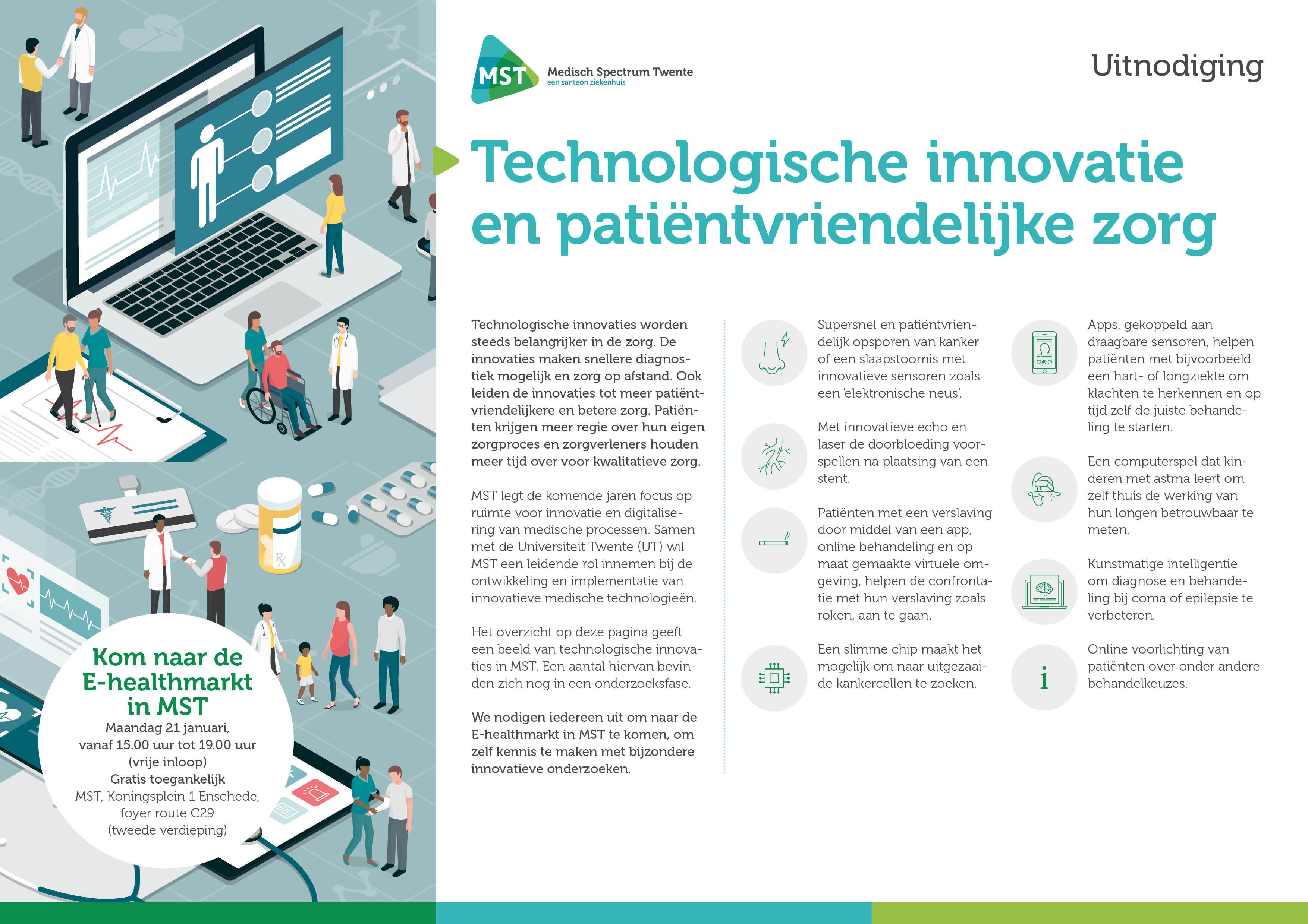 Uitnodiging E-healthmarkt MST