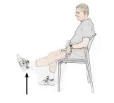 Oefening knie heup