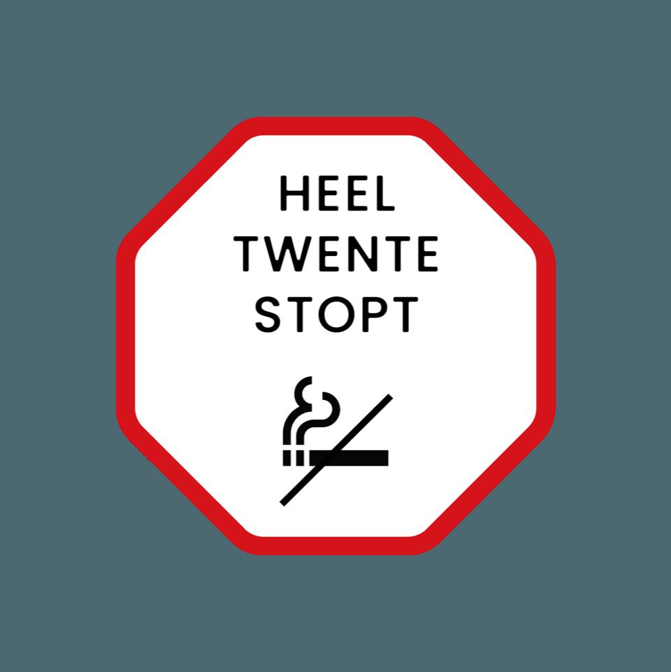 Heel Twente Stopt met roken logo